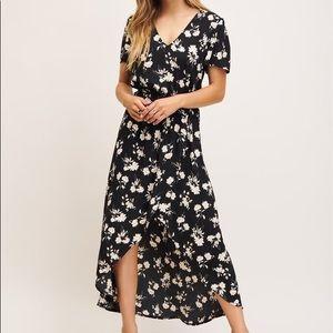 NWT Dynamite - Wrap Floral Maxi Dress